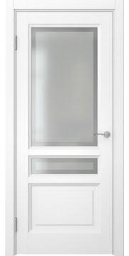 Межкомнатная дверь, FK016 (эмаль белая, остекленная)