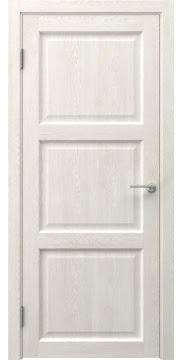 Межкомнатная дверь, FK017 (экошпон белый дуб, глухая)