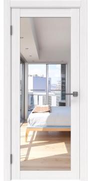 Межкомнатная дверь, FK021 (экошпон белый FL, с зеркалом)