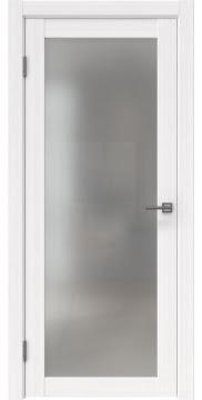 Межкомнатная дверь FK021 (экошпон «белый FL», матовое стекло) — 9003