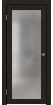 Межкомнатная дверь, FK021 (экошпон венге FL, матовое стекло)
