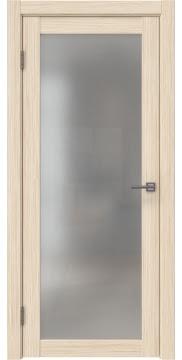 Межкомнатная дверь, каркас: массив сосны и МДФ, FK021 (экошпон беленый дуб FL, остекленная)