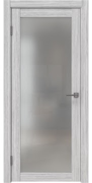 Межкомнатная дверь FK021 (экошпон «серый дуб FL», матовое стекло) — 9012