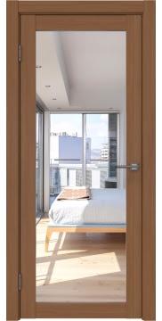 Межкомнатная дверь, FK021 (экошпон орех FL, с зеркалом)