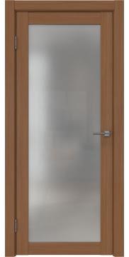 Межкомнатная дверь, FK021 (экошпон орех FL, матовое стекло)