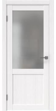 Межкомнатная дверь FK022 (экошпон «белый FL», матовое стекло) — 9017