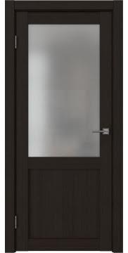 Межкомнатная дверь, FK022 (экошпон венге FL, матовое стекло)