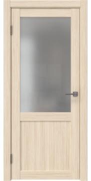 Межкомнатная дверь, каркас: массив сосны и МДФ, FK022 (экошпон беленый дуб FL, остекленная)