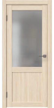 Межкомнатная дверь, FK022 (экошпон беленый дуб FL, матовое стекло)
