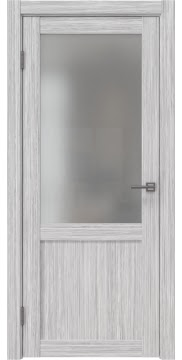 Межкомнатная дверь FK022 (экошпон «серый дуб FL», матовое стекло) — 9023