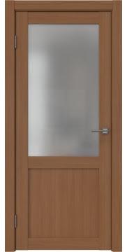 Межкомнатная дверь, FK022 (экошпон орех FL, матовое стекло)