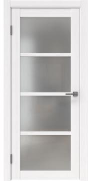 Межкомнатная дверь FK027 (экошпон «белый FL», матовое стекло) — 9171