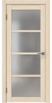Межкомнатная дверь, FK027 (экошпон беленый дуб FL, матовое стекло)