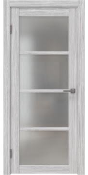 Межкомнатная дверь, FK027 (экошпон серый дуб FL, матовое стекло)