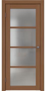 Межкомнатная дверь, FK027 (экошпон орех FL, матовое стекло)