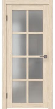 Межкомнатная дверь, FK028 (экошпон беленый дуб FL, матовое стекло)