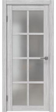 Межкомнатная дверь, FK028 (экошпон серый дуб FL, матовое стекло)