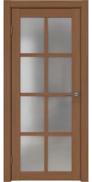 Межкомнатная дверь, FK028 (экошпон орех FL, матовое стекло)