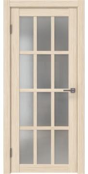 Межкомнатная дверь, каркас: массив сосны и МДФ, FK029 (экошпон беленый дуб FL, остекленная)
