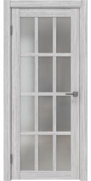 Межкомнатная дверь, FK029 (экошпон серый дуб FL, матовое стекло)