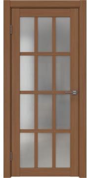 Дверь с английской решеткой, FK029 (экошпон орех FL, остекленная)