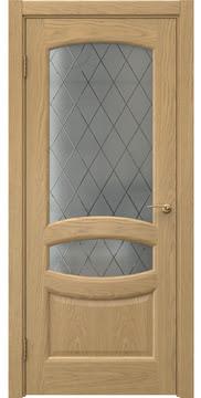 Межкомнатная дверь, FK030 (шпон дуб натуральный, сатинат ромб)