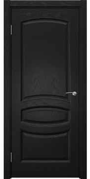 Классическая дверь, FK030 (шпон ясень черный, глухая)