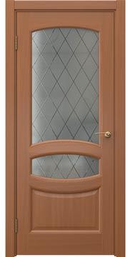 Межкомнатная дверь FK030 (шпон анегри / стекло: сатинат ромб) — 5844