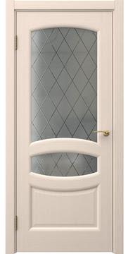 Межкомнатная дверь, FK030 (шпон беленый дуб, сатинат ромб)