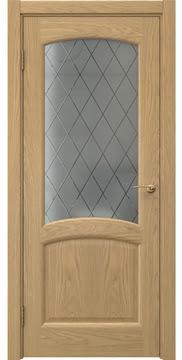 Межкомнатная дверь FK031 (натуральный шпон дуба / стекло: сатинат ромб) — 5871
