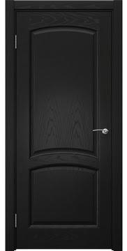 Межкомнатная дверь, FK031 (шпон ясень черный, глухая)
