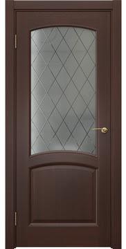 Межкомнатная дверь FK031 (шпон итальянский орех / стекло: сатинат ромб) — 5877