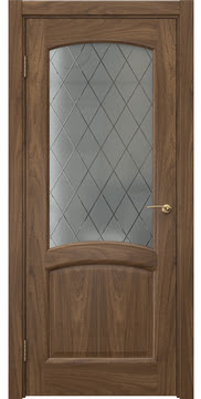 Межкомнатная дверь FK031 (шпон американский орех / стекло: сатинат ромб) — 5875