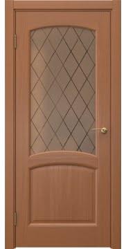Межкомнатная дверь FK031 (шпон анегри / сатинат бронзовый ромб) — 5982