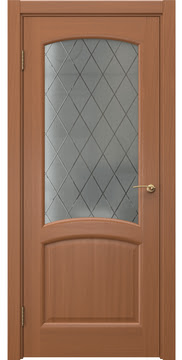 Межкомнатная дверь FK031 (шпон анегри / стекло: сатинат ромб) — 5867