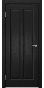 Межкомнатная дверь FK032 (шпон ясень черный / глухая) — 5980