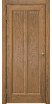 Межкомнатная дверь, FK032 (шпон дуб античный с патиной, глухая)