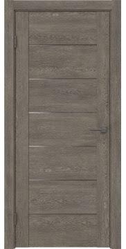 Межкомнатная дверь GM001 (экошпон «серый дуб» / матовое стекло) — 0374