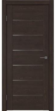 Межкомнатная дверь GM001 (экошпон «дуб шоколад» / матовое стекло) — 0375