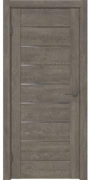 Межкомнатная дверь GM002 (экошпон «серый дуб» / матовое стекло) — 0402