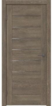 Межкомнатная дверь GM002 (экошпон «дуб антик» / матовое стекло) — 0400
