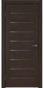 Межкомнатная дверь GM002 (экошпон «дуб шоколад» / матовое стекло) — 0403