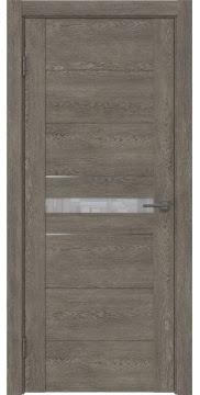 Межкомнатная дверь GM003 (экошпон «серый дуб» / лакобель белый) — 0425