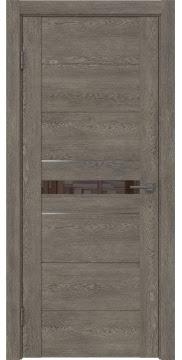 Межкомнатная дверь GM003 (экошпон «серый дуб» / лакобель коричневый) — 0426