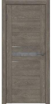 Межкомнатная дверь GM003 (экошпон «серый дуб» / лакобель серый) — 0427