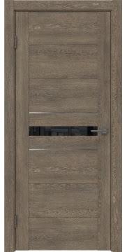 Межкомнатная дверь GM003 (экошпон «дуб антик» / лакобель черный) — 0420