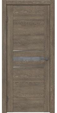 Межкомнатная дверь GM003 (экошпон «дуб антик» / лакобель серый) — 0419