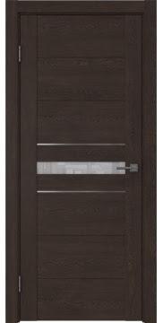 Межкомнатная дверь GM003 (экошпон «дуб шоколад» / лакобель белый) — 0429
