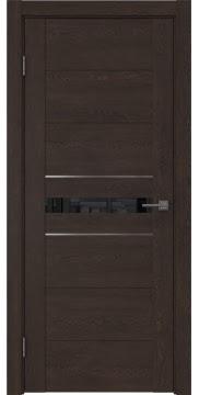 Межкомнатная дверь GM003 (экошпон «дуб шоколад» / лакобель черный) — 0432