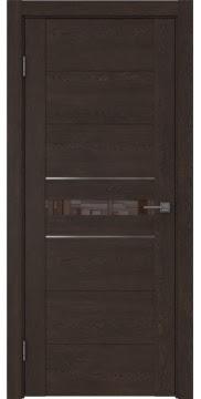 Межкомнатная дверь GM003 (экошпон «дуб шоколад» / лакобель коричневый) — 0430